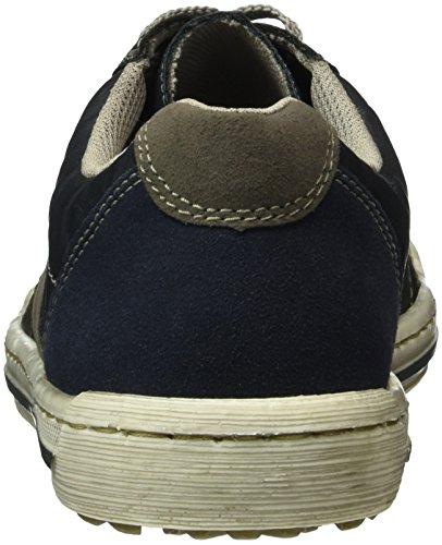 Rieker 18001, Baskets Basses Homme Bleu (Marine/River/Rauch/Wine/Fumo/14)