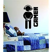 Pegatinas de Pared de Gamer con Controlador Pegatinas de Arte de Pared en Dormitorio y Salón Decoración de Pared