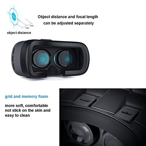 3D-VR-Brille, YSSHUI 3D-VR-Box II Headset mit Bluetooth-Fernbedienung Virtual Reality Handy 3D-Filme für iPhone 6s / 6 Plus Samsung Galaxy s5 / s6 / Hinweis4 / Hinweis5 und andere 4.7