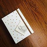 Journal Feuille d'Or Triangle de Couleur Blanche (peut être utilisé en tant que Journal Intime ou Planner) Notebook • Journal d'écriture • Journal Intime • Planner de Voyage • 2019 Planner