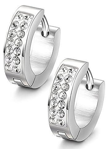 A Pair of Ladies Elegant Gold Black Men Stud Earrings,