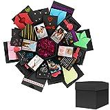 Powcan Coffret Cadeau Surprise, DIY Boîte d'explosion Amour Souvenir Boite Album-Photo Créatif de 5-Couche à 6 côtés pour Noël/Anniversaire/Fête...