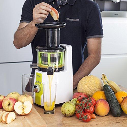 Cecotec Licuadora de Prensado en Frío Cecojuicer. Para Frutas y Verduras de Prensado en Frío, Extractor de Jugo, 150W