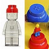 Oxford Block Figura Botella 350 ml / 11.8oz para niños adultos al aire libre Fitness Gimnasio Cocina Organizador, RedCapFigureBottle
