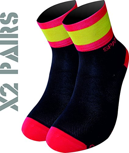 Foto de España TKS PACK 2 PARES CALCETINES SOFTAIR+(NEGROS), ciclismo, running, triatlon, golf y deportes en general. (L(43-45 EU)(9-10.5 UK), NEGROS)