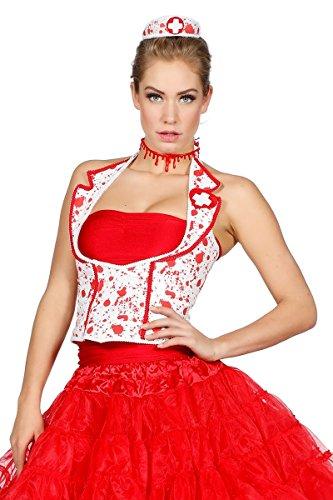 Wilbers Krankenschwester Korsett Corsage Blut Blutspritzer Kostüm Halloween Schwester