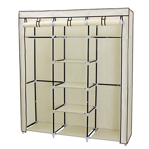 songmics-armadio-cabina-guardaroba-appendiabiti-in-acciaio-tessuto-175-x-150-x-45cm-beige-ryg12m