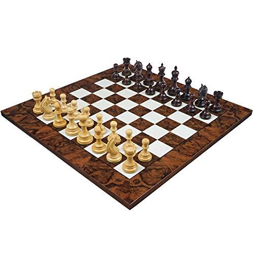 The Tietgen Luxus Rosenholz und Nussbaum Grand Schach Set