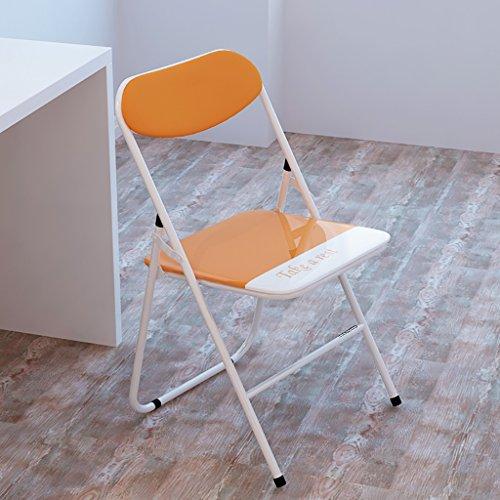 LLRDIAN Freizeitstuhl kreativer Esszimmerstuhl Moderner minimalistischer Massivholzstuhl Kunststoff-Coffee-Shop-Stuhl Eukalyptusbein Ledersitzstuhl Einfacher Klappstuhl (Color : Orange) - Kunststoff-stuhl Moderner