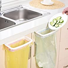 Home Cube® 1 Pc Hanging Cupboard Door Back Trash Towel Rack Storage Kitchen ABS Cabinet Garbage Bag Hanger Holder - Random Color