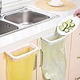 #10: Home Cube® 1 Pc Hanging Cupboard Door Back Trash Towel Rack Storage Kitchen ABS Cabinet Garbage Bag Hanger Holder - Random Color