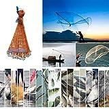 Angeln Net Wurfnetz, Outdoor Erweiterbar Nylon Monofilament Tragbares Falt Fangnetz Fisch...