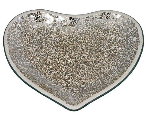 Big Living 21.5 cm Mercury mosaïque Heartcandle Plaque