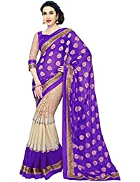 Regalia Ethnic Chiffon Saree (Re2020_Purple)