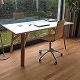 Marken Design Schreibtisch weiß 160 x 90 ERIK Tischbeine Massivholz Holz Buche