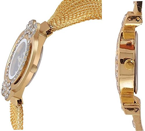 Aaradhya Fashion Combo Of 2 Analogue Multicolor Dial Girl's and Women's Watch-A9F-Crstal-Black-White0803