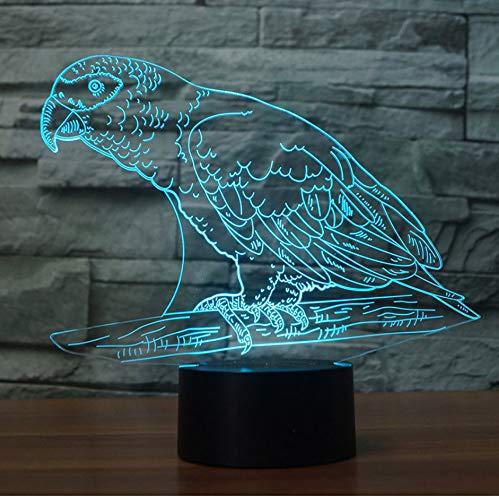 Papagei steht in der Filiale bunte Nachtlampe 7 Farbwechsel Touch Sensor für Kinder oder Erwachsene