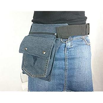 Hüfttasche hergestellt aus eine blaue recycletemJeans Hose, Tasche Hipsypixie