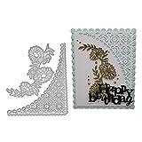 Fogun Dentelle carrée Découpe Pochoir pour Bricolage Scrapbooking Gaufrage Album Papier.