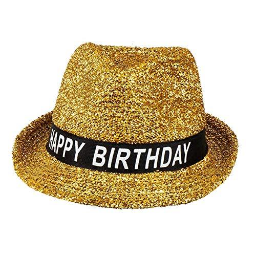 Boland Geburtstags-Hut Happy Birthday für Erwachsene Gold Einheitsgröße