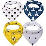 Corewill Bandana Drool Bibs For Teething And Drooling Absorbent Organic Cotton Baby Gift Set With Snaps For Boys And Girls