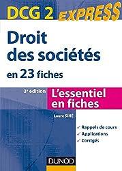 Droit des sociétés DCG 2 - 3e édition : en 23 fiches (Express DCG)