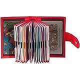 Rimbaldi - XXL-Kreditkartenetui aus Kalbsleder mit 22 Kartenfächern aus weichem, naturbelassenem Kalbsleder