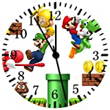 Ikea Orologio da parete 25,4cm super Mario Games will be Nice Gift and Room Wall Decor X09