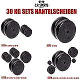 C.P. Sports - Juego de pesas de 30kg, distintos discos, 30mm, varios juegos a elegir, 2x 5 KG + 2x 10 KG