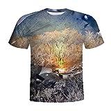 T-Shirt da Uomo & Camicia Uomo Elegante Estivi Maglietta Manica Corta Donna con Stampa 3D Drago Blu Maglietta Moda con T-Shirt Qinsling