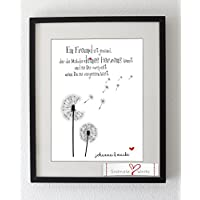 Personalisierter Kunstdruck für die beste Freundin Ein Freund ist jemand...