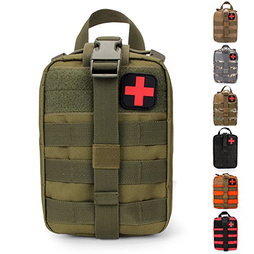 HX OUTDOORS Tactical Molle Rip-Away EMT Medical First Aid IFAK Lifesaving Pouch,Outdoor Medical Package,Mountaineering/Climbing Rescue Tools Package Made of 600D Waterproof Fabric (OD) - Kit-tool Bag