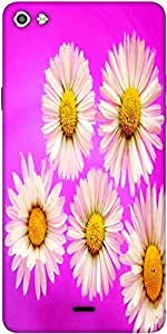 Snoogg Daisies Designer Protective Back Case Cover For Micromax Canvas Silver 5 Q450