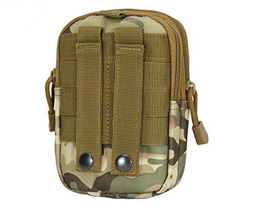 ueasy Kompakte Mehrzweck Tactical Waist Pack Tasche MOLLE EDC Camping Wandern Tasche Geldbörse Handy Fall Utility Gadget Pouch Tools Tactical Pouch - CP