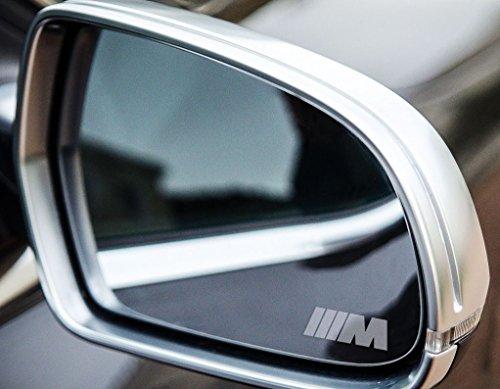 2 x BMW M Fahne Sport Small Symbol Spiegelaufkleber aus Milchglasfolie, Aufkleber aus Frost Folie, UV & waschanlagenfest, Milchglas, Frost, Aufkleber,Sticker für Spiegel, Aussenspiegel, Außenspiegel, von Myrockshirt (Patent-symbol)