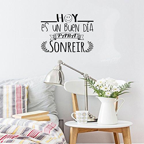 Frase vinilo hoy es un buen d a para sonre r vinilos for Vinilos decorativos para paredes de dormitorios