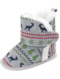 KISSION Neutro Neonato Inverno Caldo Morbido Cotone Scarpe Stivali Natale Stivali 0-18 Mesi