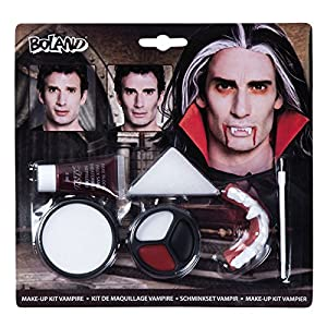 Kit maquillaje maquillaje Vampiro Taglia Unica Bianco