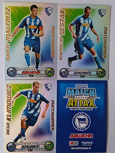 Match Attax Topps 2009 2010 - Trading Cards alle 3 Matchwinner: Bochum - Maltritz, Sestak, Klimowicz (Topps-fußball-2010)