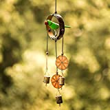 #1: ExclusiveLane Wooden Handpainted & Handmade Decorative Hanging With Parrot - Wind Chimes Door Hanging Wall Hanging Décor