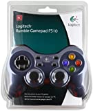 Logitech 940-000114 F510 Rumble Gamepad Force Feedback, analog + digital, Multidirektionale Tasten, PC/Mac, kabelgebunden, Gamepad