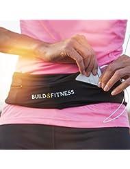 Cintura giratoria con la llave de clip, se ajusta a iPhone 6 y 7 Plus, unisex, Adecuado para entrenamiento, gimnasia, ejercicio, ciclismo, caminar, trotar, yoga, deporte, viajes y actividades al aire libre