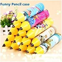 SillyMe Pencil Shaped Stationery Case Pouch for Kids   Birthday Return Gift (for Boys - 5 pc)