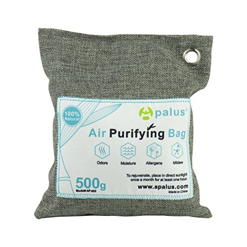 Apalus ® Bolsa de Carbón Activo De Bambú, Deshumidificador Y Purificador De Aire. Ambientador Natural...