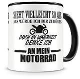 Samunshi Ich denke an mein Motorrad Tasse Kaffeetasse Teetasse Kaffeepott Kaffeebecher Becher