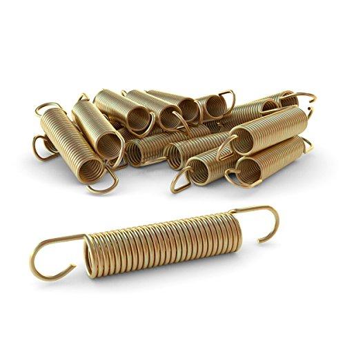 Ampel 24 Trampolin Ersatzfeder-Set von 12 Federn, ca. 140 mm Zugfeder-Länge, Sprungfeder extra verstärkt und Lange haltbar