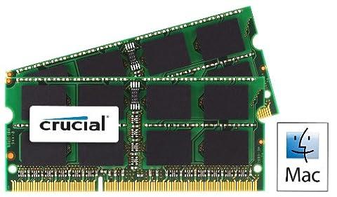 Crucial 4GB Kit (2GBx2) DDR3 1066 MT/s (PC3-8500) SODIMM 204-Pin Memory for Mac - CT2C2G3S1067MCEU