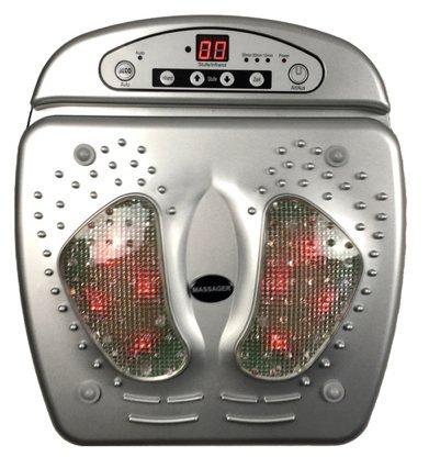 Infrarot Fußmassagegerät mit Fernbedienung Fussmassage Fuß Masseur Massagegerät Reflexmassagegerät