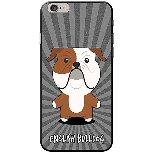 Englische Bulldogge, Britische Bulldogge Hartschalenhülle Telefonhülle zum Aufstecken für Apple iPhone 6 / 6s (Englische Valentine Bulldogge)