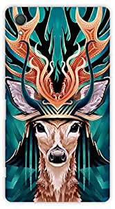 Crazy Beta DEER FACE Printed Back Cover For Sony Xperia Z2